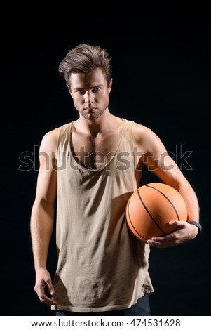 Professional basketball player ready to compete