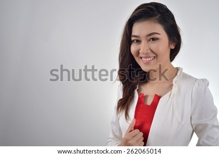 professional business girl  - stock photo