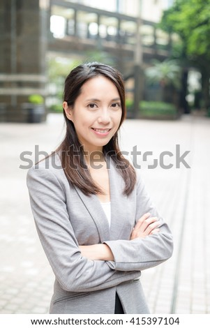 Professional business woman - stock photo