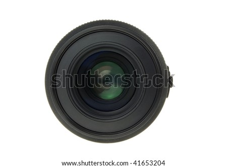Professional Camera Lens isolated on white background
