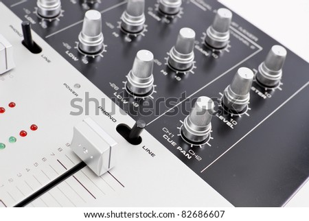 Professional Channel Mixer Preamp - stock photo