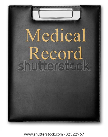 "Professional Clipboard with ""Medical Record"" Print"