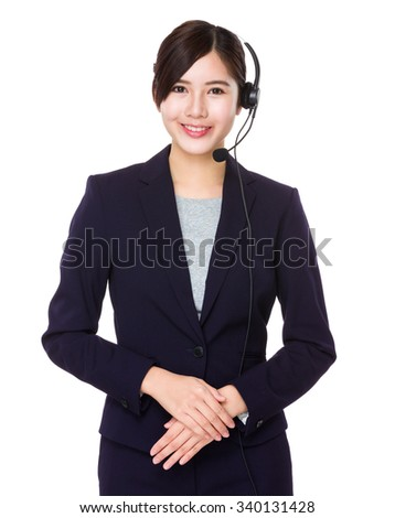 Professional customer services officer - stock photo