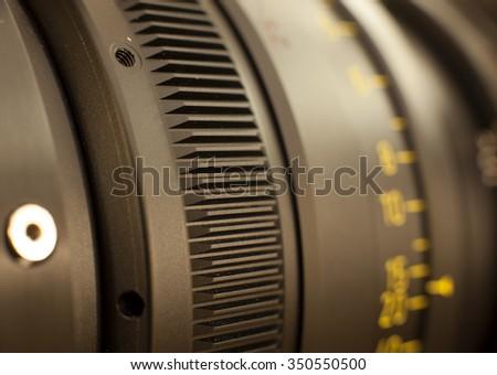 Professional digital video camera. accessories for 4k video cameras - stock photo