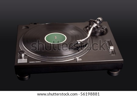 Professional DJ Vinyl Player. File includes clipping path for easy background removing.
