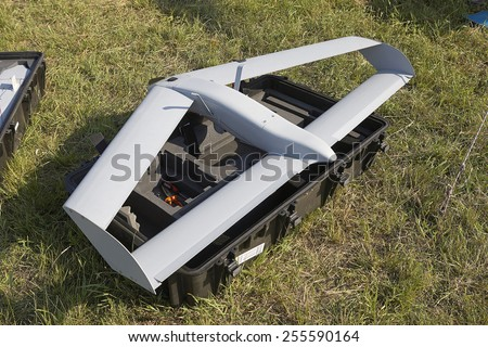 Professional drone for military or civil use - stock photo