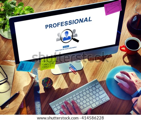 Professional Employment Website Occupations Concept - stock photo