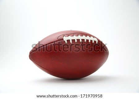 Professional Football Isolated on White Background - stock photo