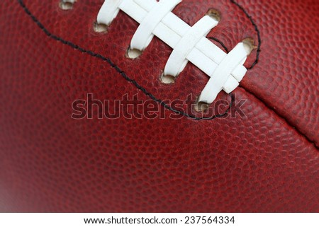 Professional Football Texture and Laces Close Up for Sports Background - stock photo