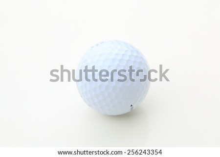 professional Golf ball isolated over white background - stock photo