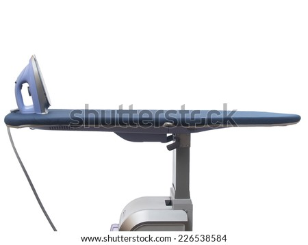 Professional ironing system on the white background - stock photo