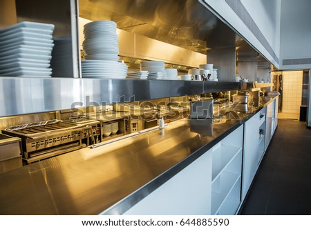 Restaurant Kitchen View industrial kitchen stock images, royalty-free images & vectors