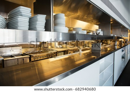 Restaurant Kitchen View kitchen equipment stock images, royalty-free images & vectors