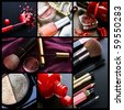 Professional Make-up collage - stock photo