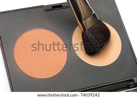 Professional make-up set. Studio shot