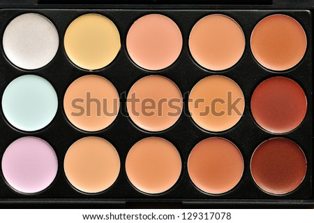 Professional makeup palette - stock photo
