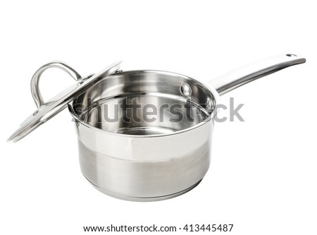 professional metal pot cooker for boiling isolated
