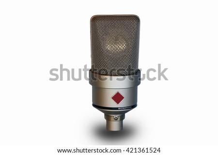 Professional microphone - stock photo