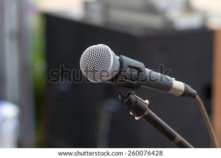 Professional microphone against people