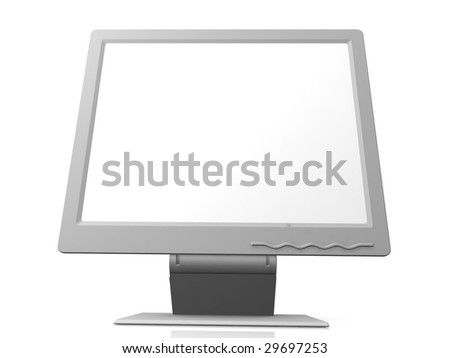 professional monitor isolated on white background with empty space