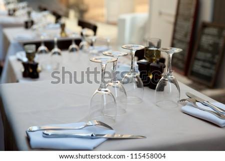Professional Restaurant Serving - stock photo