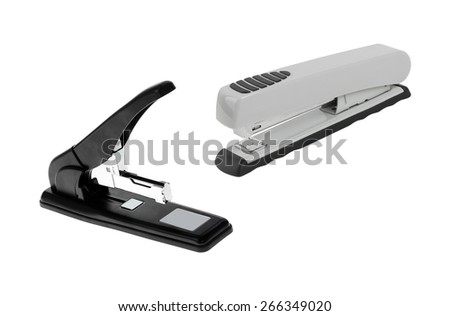 professional staplers isolated - stock photo