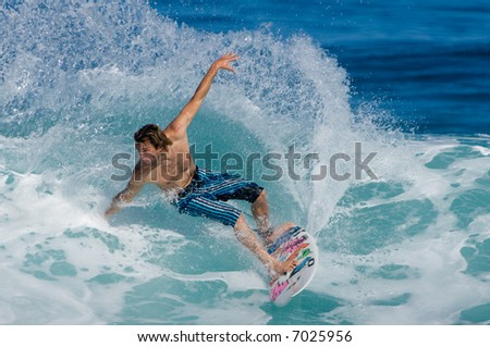 Professional Surfer (for editorial use only) - stock photo