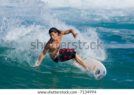 professional surfer Kalani Robb (for editorial use only)