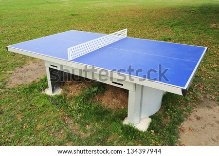 professional tennis table in the park outdoor - stock photo