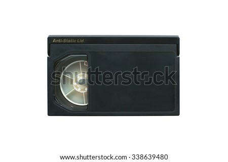 Professional video cassette. - stock photo