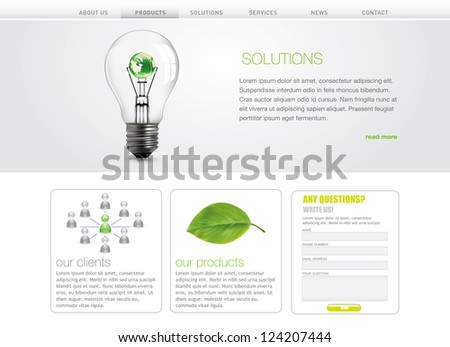 Professional website template. Vector format in portfolio. - stock photo