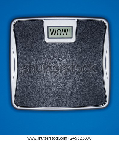 Professional weight scale for gym and doctor office - stock photo