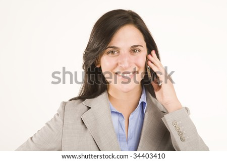 professional woman talking on mobile phone