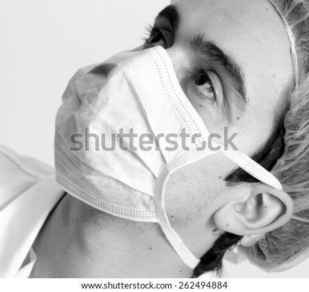 Professional young doctor at work. - stock photo