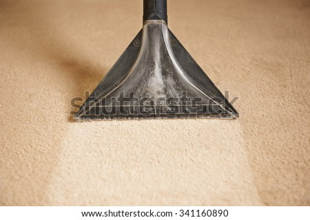 Professionally Cleaning Carpets - stock photo