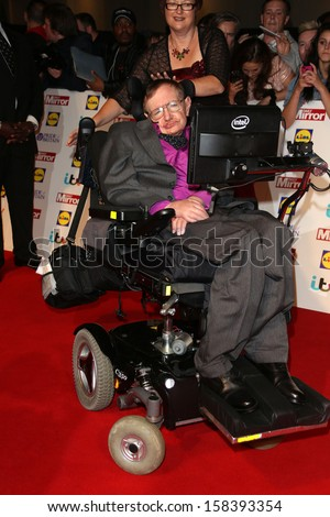 Professor Stephen Hawking at The Pride of Britain Awards 2013 - Arrivals London. 07/10/2013 - stock photo