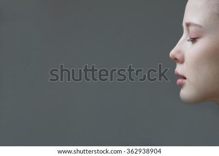 profile beauties - stock photo