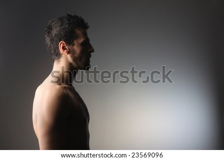 profile of a naked man