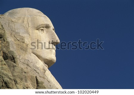 Profile of George Washington from Mount Rushmore