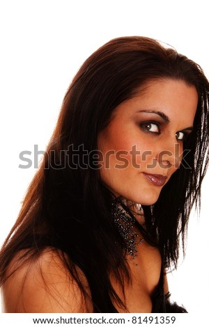 profile of woman with dark hair