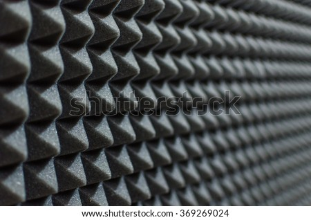 profiled foam for acoustics packaging - stock photo