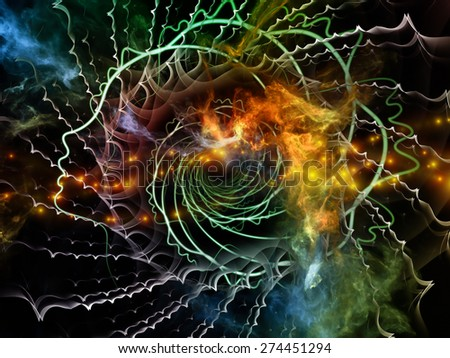 Profiles of Destiny series. ?omposition of astrology symbols, human profile lines, circles and design elements to serve as  background in works on astrology,magic, witchcraft and fortune telling - stock photo