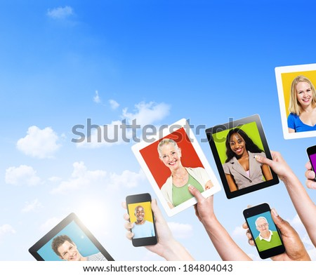 Profiles of Multi-Ethnic People on Electronic Devices