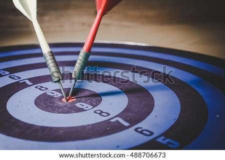 Profit and Loss concept. Dart and Arrow represent the words Profit and Loss, Profit versus Loss with risk management. Business Acronym P&L which called as Profit and Loss.
