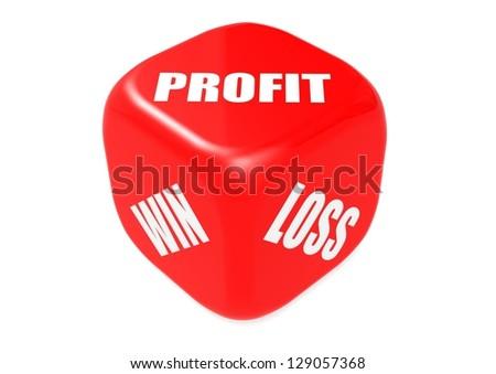 Profit dice - stock photo