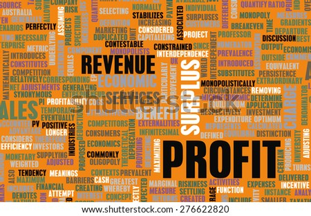 Profit in a Business and Economic Sense as Art - stock photo