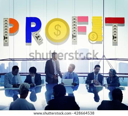 Profit Income Business Finance Money Concept - stock photo