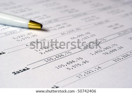 Profit & loss calculations with pen