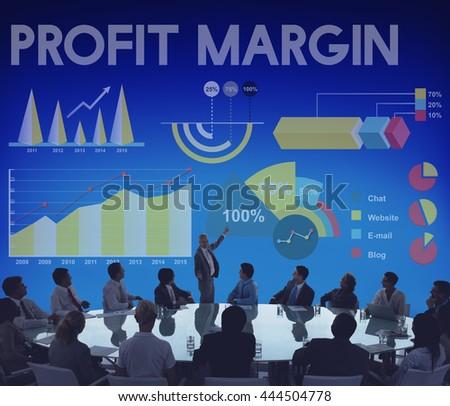 Profit Margin Percentage Business Chart Concept - stock photo