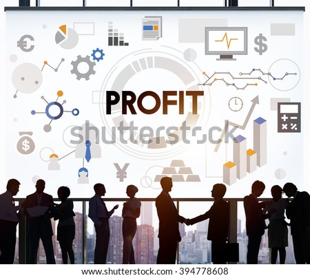 Profit Revenue Money Currency Business Concept - stock photo